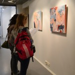 Visitors took their time with the artwork.