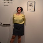 Briana Romero at the opening of her exhibition.